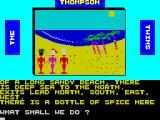 The Thompson Twins Adventure ZX Spectrum Aha! An object to be picked up no doubt.