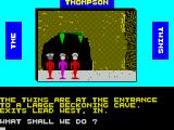 The Thompson Twins Adventure ZX Spectrum Later there's a cave to explore
