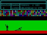 Video Olympics ZX Spectrum The player must play through all games in order. There's no menu option that allows the player to select an event. First up is the 100m.