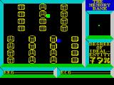 Deus Ex Machina ZX Spectrum The Memory Bank. The player must keep the cells alive by touching them with the cursor. Once they stop moving the tiny spark of life, aka the green dot in the top right window, stops learning