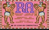 The Curse of RA Commodore 64 Title and credits