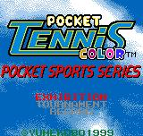 Pocket Tennis Neo Geo Pocket Color Title screen