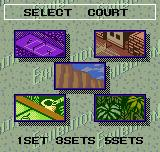Pocket Tennis Neo Geo Pocket Color Court selection