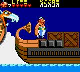 Astérix and the Secret Mission Game Gear On one of a convoy of ships