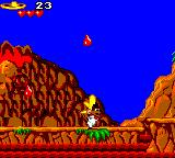 Cheese Cat-Astrophe starring Speedy Gonzales Game Gear Drops of lava falling