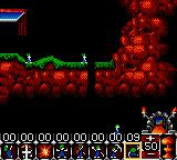 Lemmings Game Gear Lemmings falling down tunnel