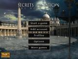 Secrets of the Vatican: The Holy Lance iPad Main menu