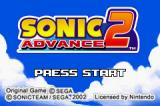 Sonic Advance 2 Game Boy Advance Title Screen