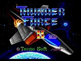 Thunder Force II Genesis Japanese title screen