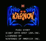 Karnov NES Title Screen