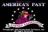 Where in America's Past Is Carmen Sandiego? Apple II Title.