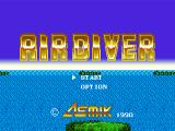 Air Diver Genesis Japanese title screen