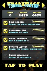 SnakeRace iPhone Achievements and high-score for this level.