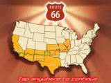 Route 66 iPad Mid point on route map