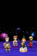 Final Fantasy III Nintendo DS One of endgame party choices, left to right: knight, devout, summoner, ninja