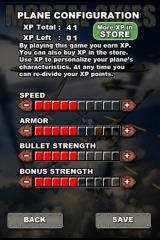 Mortal Skies: Modern War Air Combat Shooter iPhone Gaining XP allows for plane configuration changes