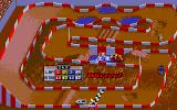 Ivan 'Ironman' Stewart's Super Off Road DOS Main Racing Screen 2