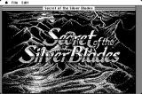 Secret of the Silver Blades Macintosh Title screen