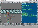 Secret of the Silver Blades Macintosh Battle - hitting a Rogue for minor damage (color)