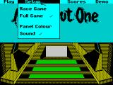 Micronaut One ZX Spectrum Setup menu, full game or just the racing game