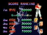 Street Fighter Alpha 2 Windows The initial high score table