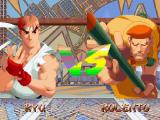 Street Fighter Alpha 2 Windows Before a match starts both players are shown against the background that represents the fight location
