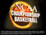 NCAA Championship Basketball DOS Logo screen