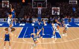 NCAA Championship Basketball DOS The action gets intense as the players try to score...