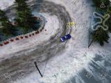 Reckless Racing iPad Taking a hot lap on the Frozen Lake course