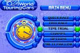 TOCA: World Touring Cars Game Boy Advance Menu screen.