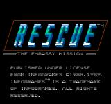 Hostage: Rescue Mission NES Actual Title Screen