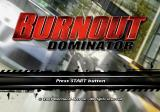 Burnout: Dominator PlayStation 2 Title screen.