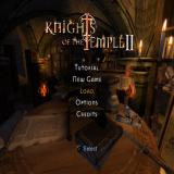 Knights of the Temple II PlayStation 2 Title screen with main menu.