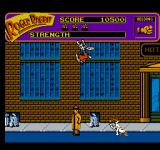 Who Framed Roger Rabbit NES A weasel closes in on our heroes. Roger leaps to the top of the screen and hangs on.