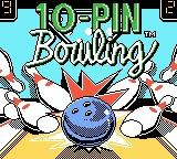 10-Pin Bowling Game Boy Color Title Screen