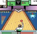 10-Pin Bowling Game Boy Color Push up while charging to add a little more speed.