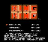 Ring King NES Title screen