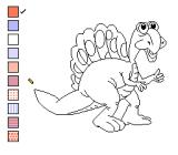 Color a Dinosaur NES An uncolored dinosaur