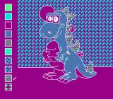 Color a Dinosaur NES The dinosaur coloring screen