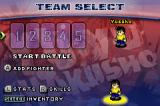 Yu Yu Hakusho: Ghost Files - Tournament Tactics Game Boy Advance Team select - at the beginning, there's only Yusuke available, the other fighters have to be unlocked.