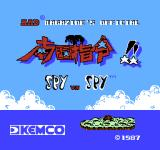 Spy vs. Spy: The Island Caper NES Title screen