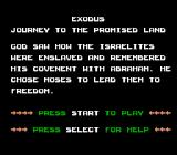 Exodus: Journey to the Promised Land NES The game introduction