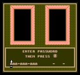 Gauntlet NES Password screen
