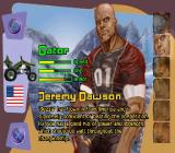 ATV Mania PlayStation Character selection screen.