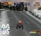 ATV Mania PlayStation Racing in the snow.