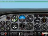 Microsoft Flight Simulator 2002 Windows This is the start of the first lesson - Straight & Level Flight. The instructors give a running commentary about the controls, the meaning of various dials, and the scenery