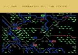 NATO Commander Atari 8-bit Nighttime: French, US and British divisions try to defend the Rhineland. Lots of craters indicate heavy usage of nuclear weapons. There is still a West German division holding Passau in the southeast.