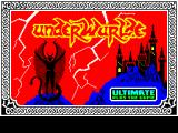 Underwurlde ZX Spectrum This screen displays as the game loads