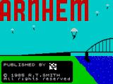 Arnhem: The 'Market Garden' Operation ZX Spectrum The game's title screen. It is static, the paratroopers do not move