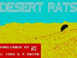 Desert Rats: The North Africa Campaign ZX Spectrum The game's title screen